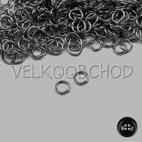 Spojovací kroužky pr.6 mm (500 ks) - hematit
