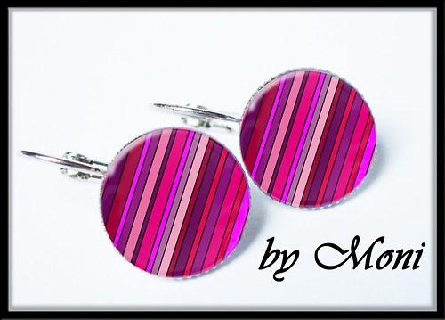 Fialovo-růžové pruhování