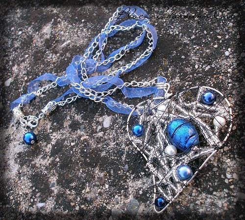 Blue Heart - náhrdelník