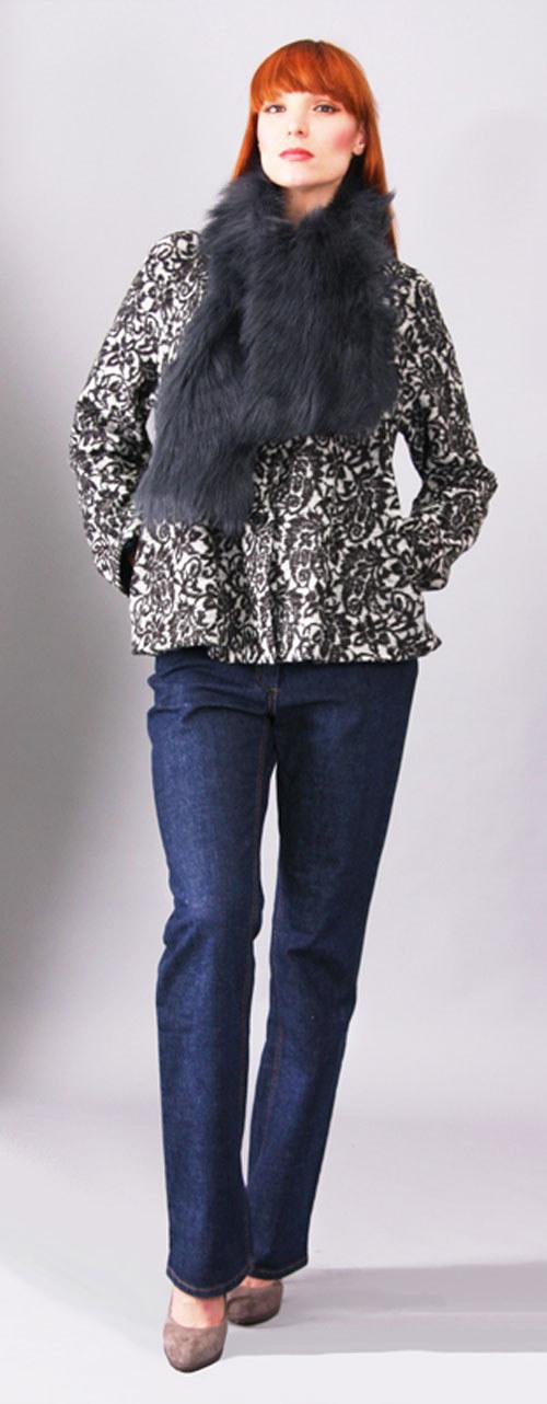 Kabátek Frank - černobílý 0289