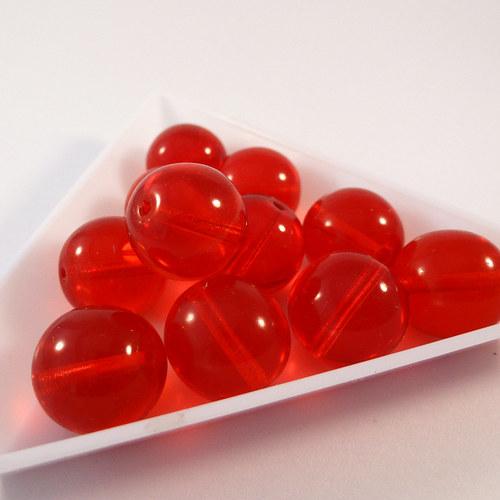Kuličky 12 mm červené 8 ks