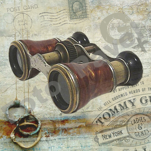 Vintage motiv - starý dalekohled 2