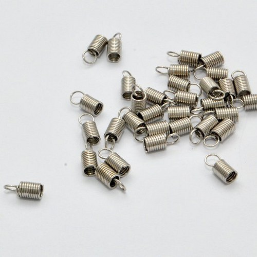 Koncovka spirálka / 20 ks / 3,2 mm / platina