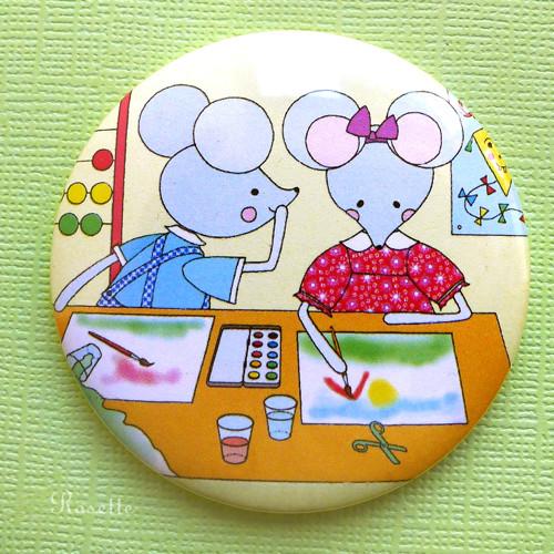 Maruška s Jindříškem v lavici - magnet