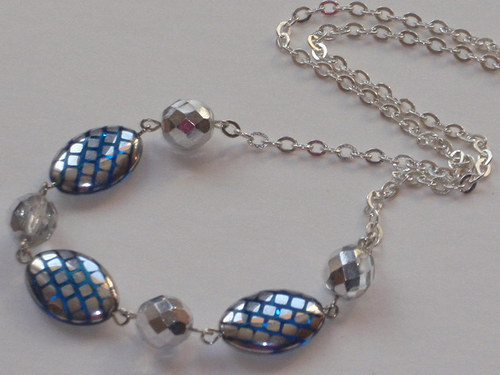 Světlemodrý náhrdelník
