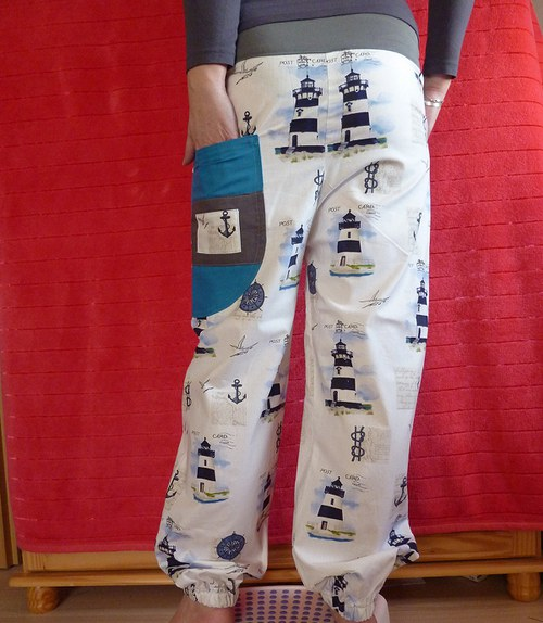 Námořnické - kalhoty s nízkým sedem