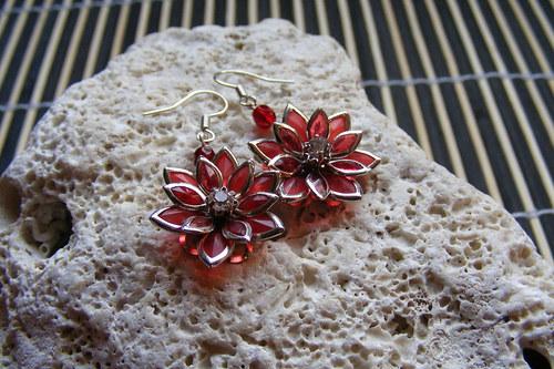Lotosový kvítek - červený