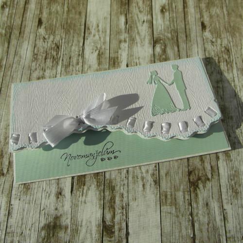 Darovací svatební obálka mentolová