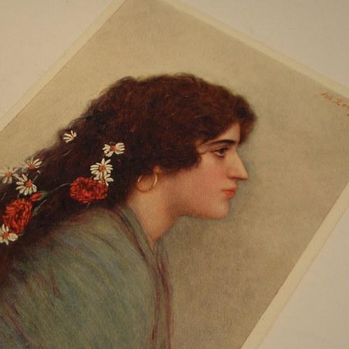 Ženíšek - TOUHA - pohlednice č. 1166