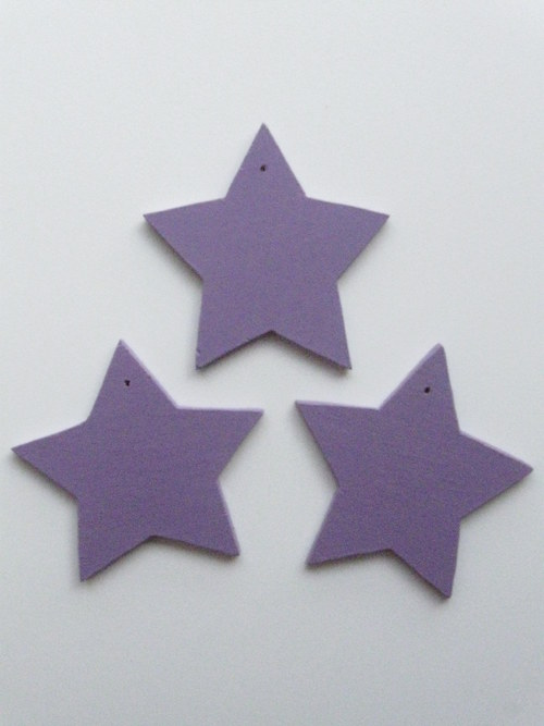 Vánoční hvězdičky - fialové - jednobarevné