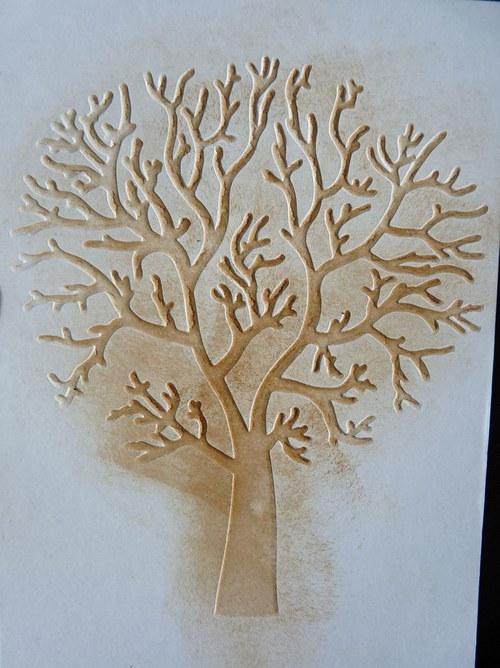 Embossovaný polotovar k dotvoření - strom