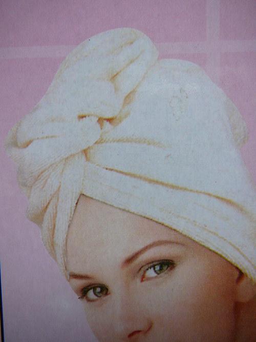 Froté turban na vlasy - meruňková