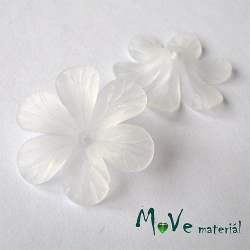 Akrylový květ 30mm, 2ks, bílý