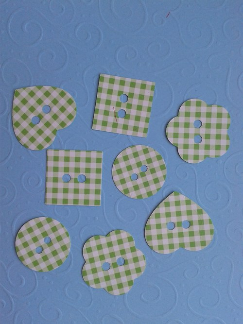 Knoflíky - zelená kostička