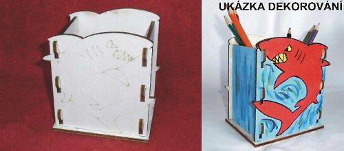 Krabička -stojánek na tužky ŽRALOK -11,5x12,5x9cm
