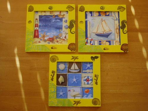 Obrázky Moře žlutý rámeček