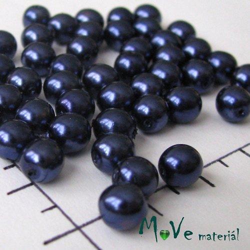 České voskové perle tmavě modré 6mm, 20g