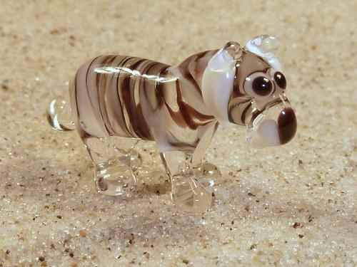tygr bílý stojící