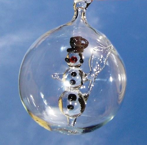 koule s motivem - sněhulák