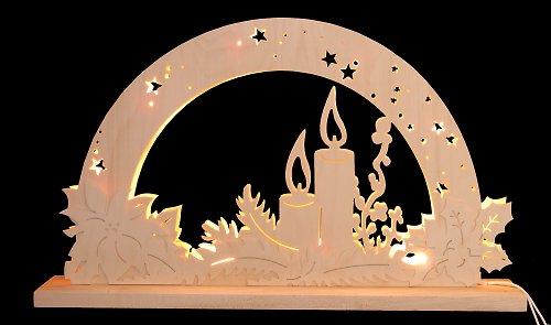Světelný vánoční oblouk - Svíčka
