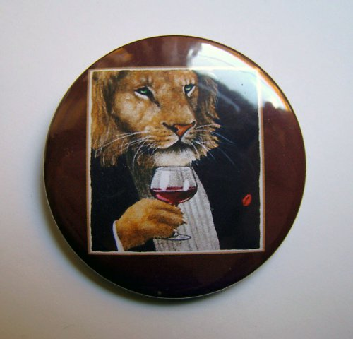 WINE KING - placka - button - 44 mm