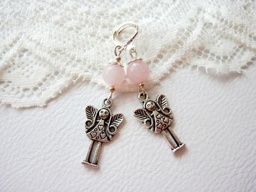 Andělka pro štěstí s růženínem