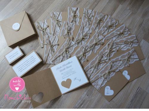 Svatební oznámení včetně zdobené obálky -  34