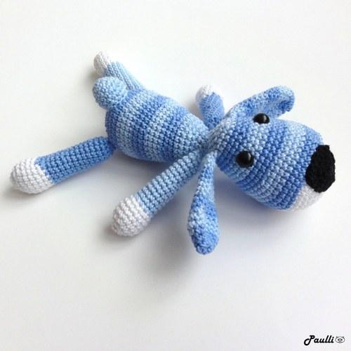 Hafan Modrý (21 cm) ze 100% bavlny - na objednávku