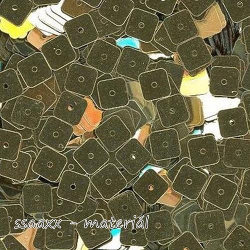 Flitry rovné ~ čtverec 6x6mm ~ 3g ~ zlaté