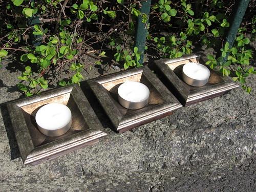 Malý dřevěný svícen