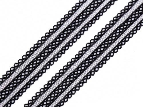 Ozdobná pruženka 18 mm (1m) - černá