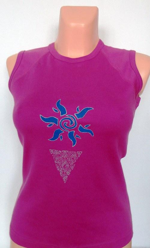 Tričko dámské Modrá sluneční spirálka
