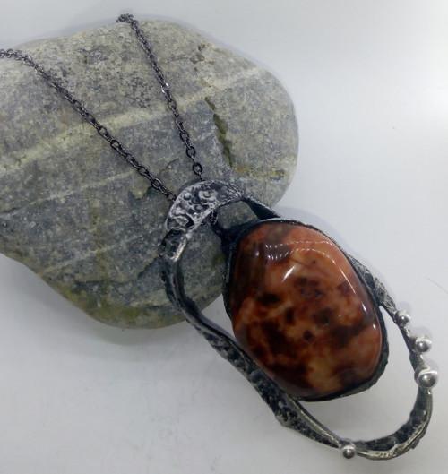 Cínový šperk (Jaspis)