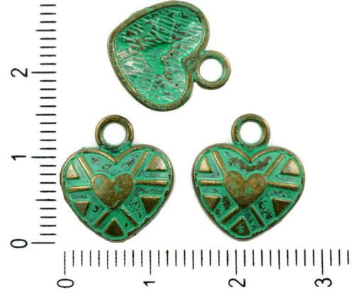 10pcs Antique Bronze Tón Tyrkysová Zelená Patina U