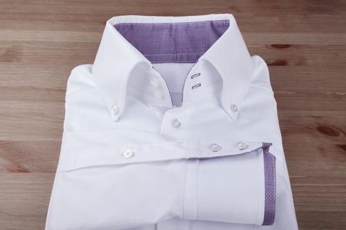 Košile Bílá s fialovými detaily / konfekční