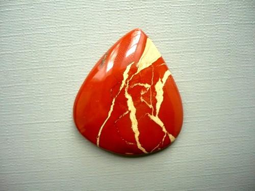Velký kabošon - jaspis červený 31 mm, č.2