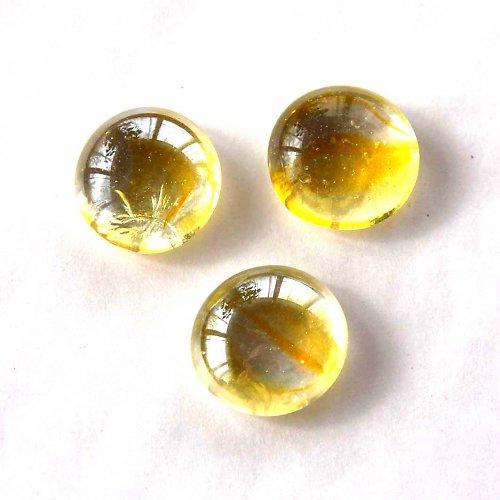 Skleněné Čočky 2cm - 2ks - Žluté