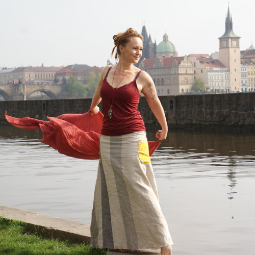 pro holku od vody ...lněná maxi sukně M