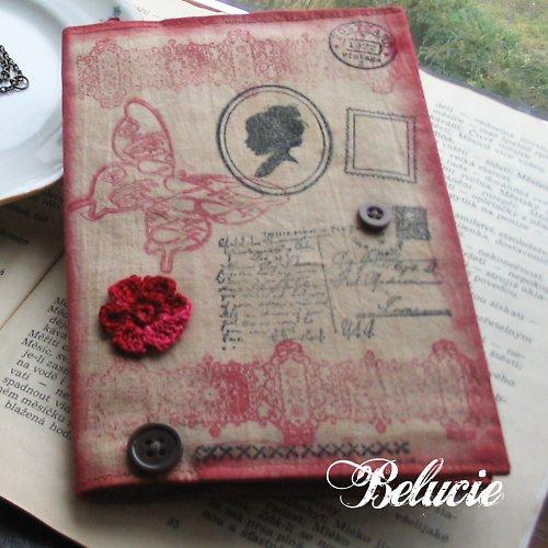 Plátěný zápisník se siluetou