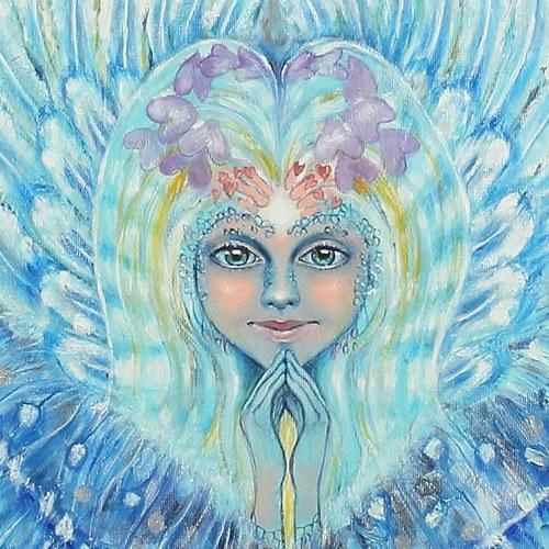 Andělský zářič (reprodukce 30x30 cm)