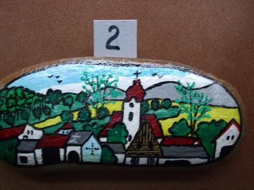 Malovaný kámen-Ke kostelíku