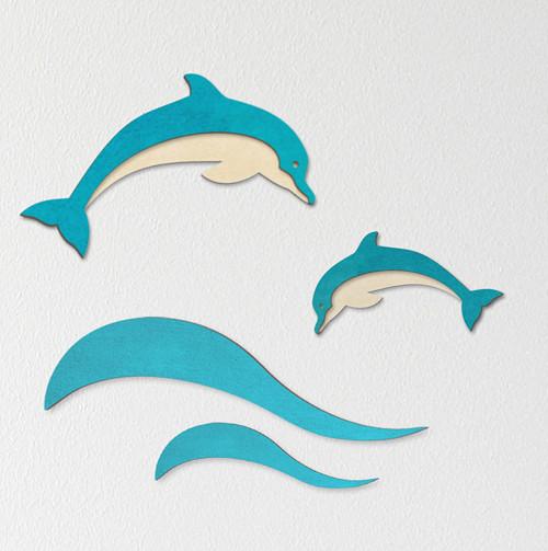 Delfín (design II) - dekorace na zeď