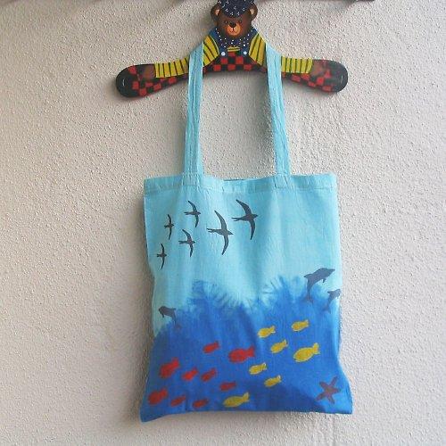 """Plátěná taška \""""Moře\"""" I."""