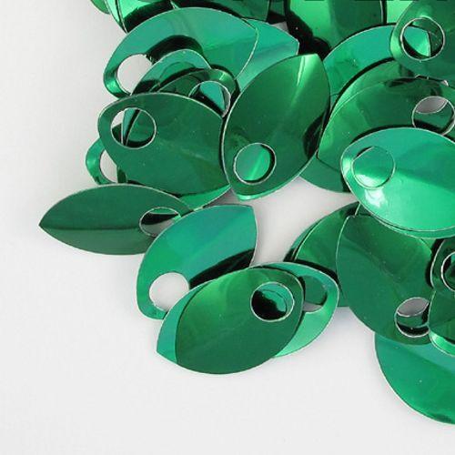Šupiny malé - zelené lesklé 10ks