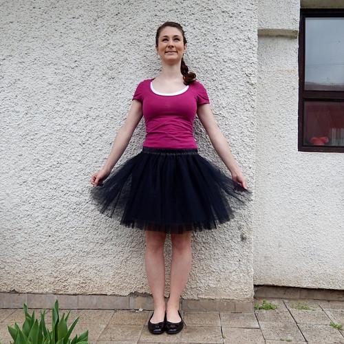 Černá tylová sukně-SKLADEM