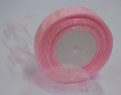 Růžová organza - 45m