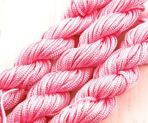 18m 57ft 19yrd Růžové Nylon Kabel Twisted Pletené