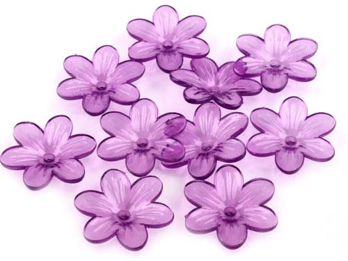 květ fialový Ø26mm, 2ks