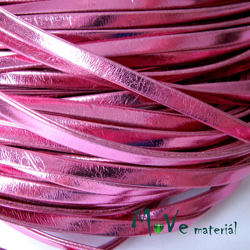 Plochá syntetická kůže, 1m, růžová