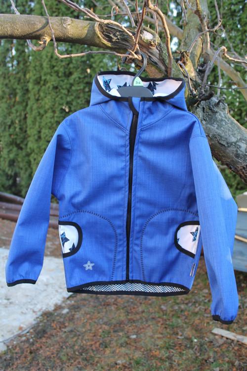 Modrá bunda s hvězdami :)